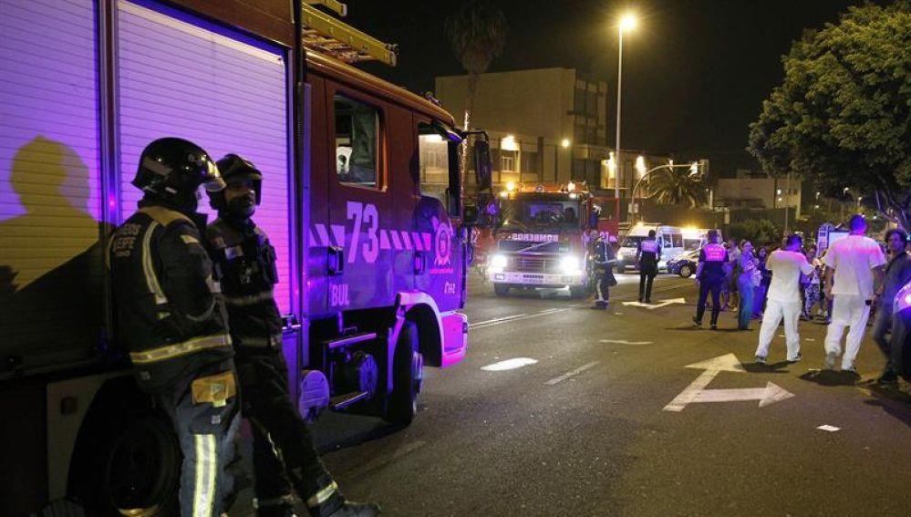 Incendio provocado en el Hospital de la Candelaria