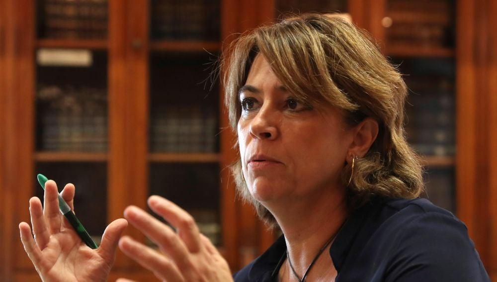 Dolores Delgado durante la entrevista.