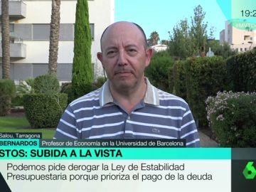 """Gonzalo Bernardos, sobre las propuestas de Podemos: """"Las subidas de impuestos del PP no afectaron a las empresas, sino a las familias"""""""