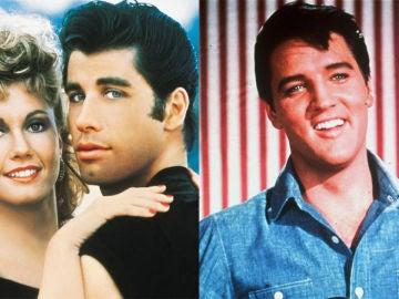 John Travolta, Olivia Newton John y Elvis Presley