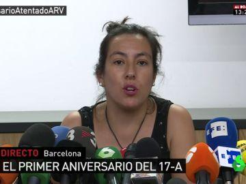 Ana Cortés, víctima de los atentados del 17-A