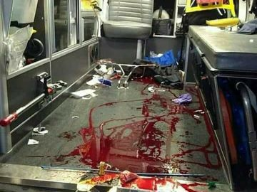 Tweet viral del interior de una ambulancia