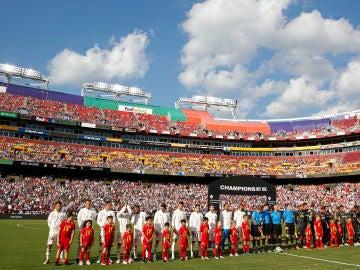 El Real Madrid jugó este verano en el FedExField de Washington DC