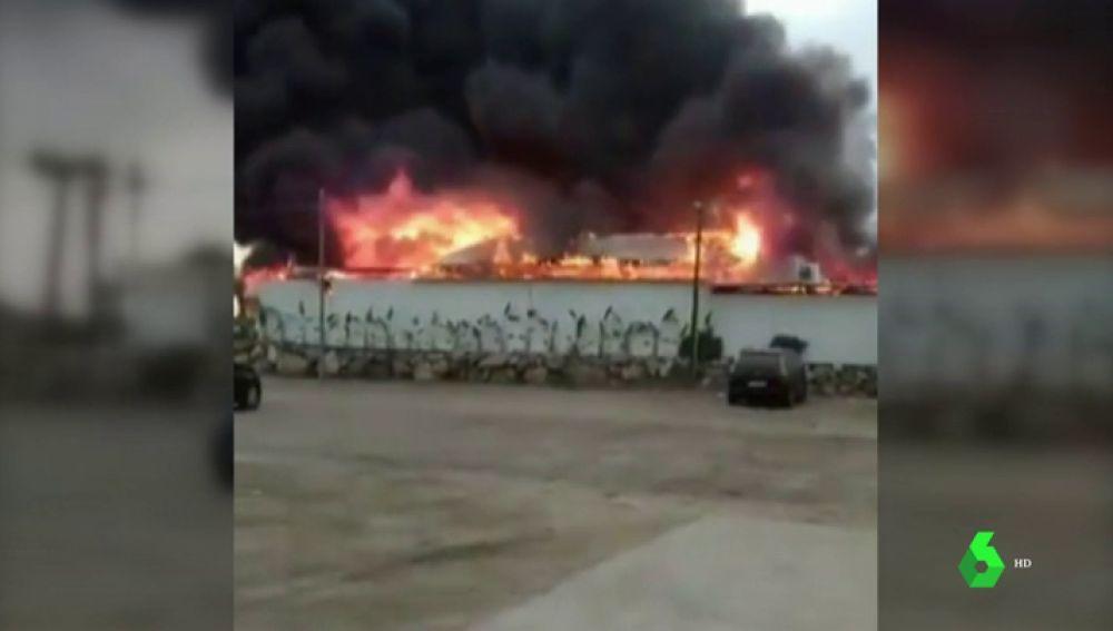 El chiringuito incendiado en Málaga