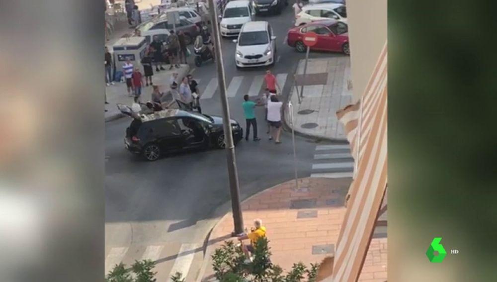 Una pelea multitudinaria en Estepona