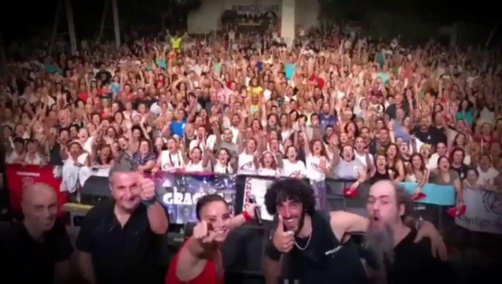 Chenoa en un concierto en Zaragoza