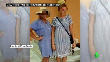Dos carteristas identificadas en Sevilla