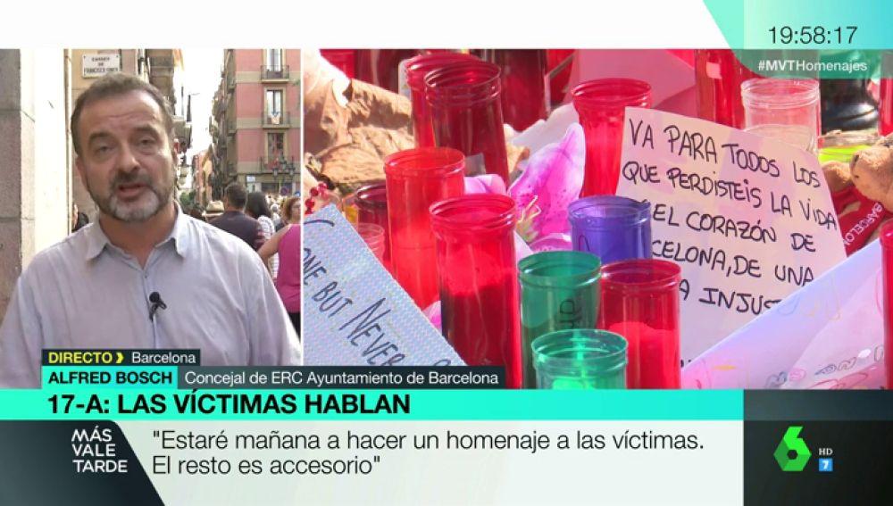 """Alfred Bosch, ante las quejas de las víctimas de los atentados por el trato de las administraciones: """"Si se quejan es porque tienen razón"""""""