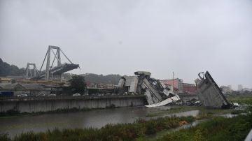 Puente derrumbado de Génova