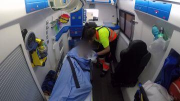 Ambulancias atiende un corte de digestión