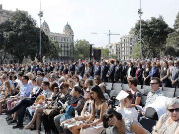 Las víctimas de los atentados del 17 de Agosto en Cataluña asisten al homenaje en Barcelona