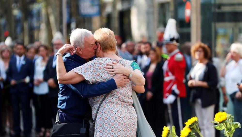 Los familiares de las víctimas mortales del atentado del 17 de agosto