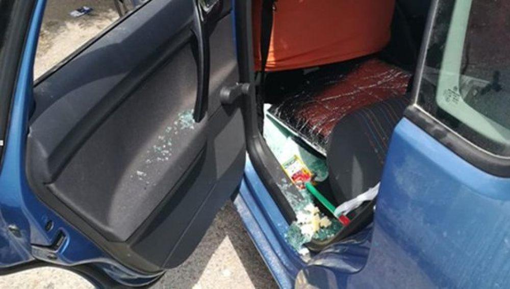 El estado en que quedó el vehículo tras la intervención.