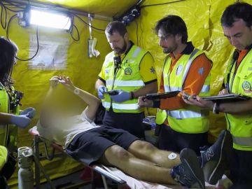 Ambulancias atiende a un joven