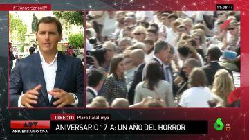 """Albert Rivera: """"Hoy no era día para ir contra el rey, era el día para ir contra el terrorismo"""""""