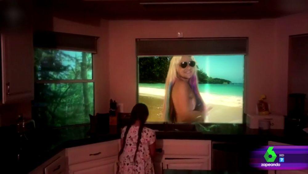 Leticia Sabater en un vídeo de Zapeando