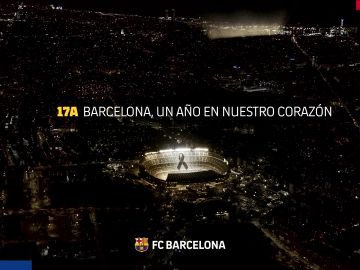 El Barça homenajea a las víctimas del 17A