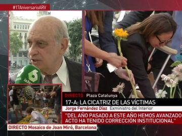 """Jorge Fernández Díaz en el homenaje del 17A: """"Con los cuerpos aún calientes, algunos convirtieron el atentado en un akelarre independentista"""""""