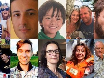 El rostro de algunas de las víctimas de los atentados del 17A