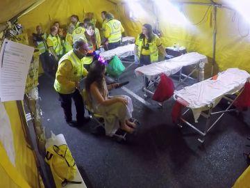 Ambulancias atiende heridas en la pierna