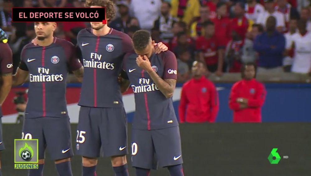 Las lágrimas de Neymar, el gol de Bartra, el crespón negro de Nadal... Así reaccionó el deporte al atentado del 17-A