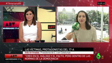 """La respuesta de María Llapart a Inés Arrimadas: """"Dice que es un día para centrarse en las víctimas, pero usted no para de hablar de política"""""""