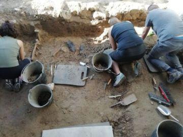 Exhumación de fusilados en Salamanca