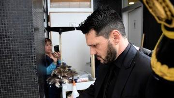 Matias Messi escoltado por la policía