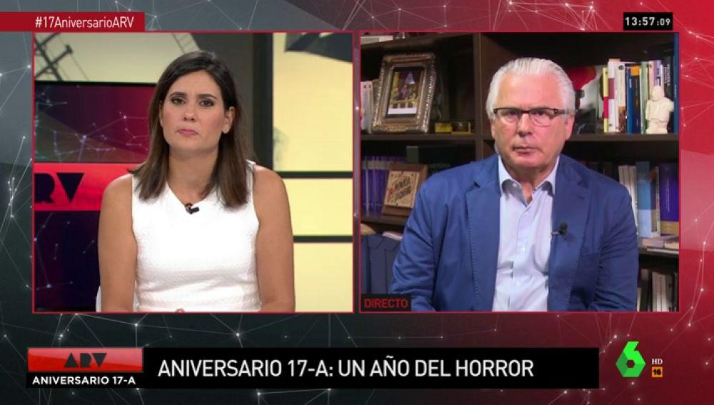 """Baltasar Garzón, crítico con la actuación de las administraciones: """"Es muy triste las víctimas del atentado tengan sensación de abandono"""""""