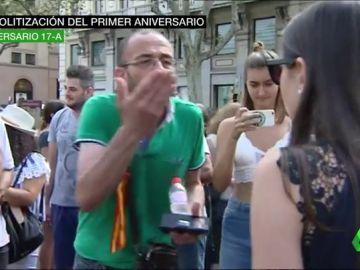 Momentos de máxima tensión en los actos de homenaje a las víctimas del 17A en Barcelona: independentistas y partidarios de la unidad de España llegan a las manos