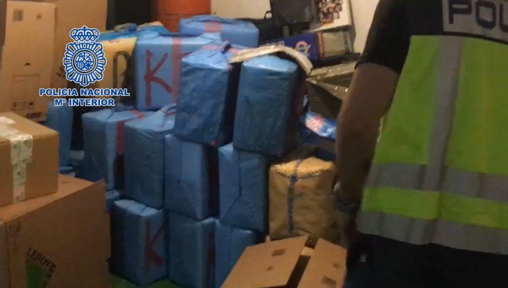 Imagen de la droga que se ha incautado la Policía Nacional