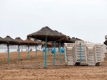 Imagen de la playa de la Malvarrosa, en Valencia