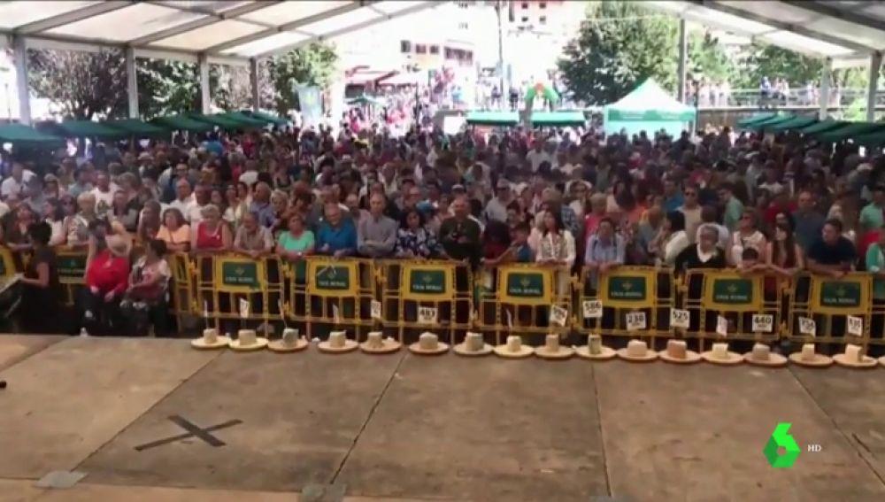 Concurso de queso cabrales en Asturias
