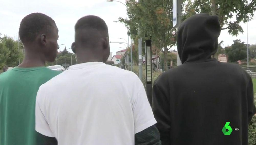 Migrantes tratando de entrar en Francia