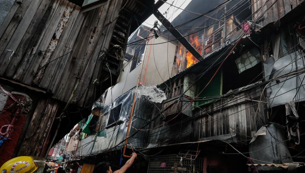 Incendio en Manila