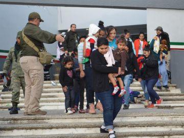 Imagen parte de los migrantes rescatados en Chiapas, México