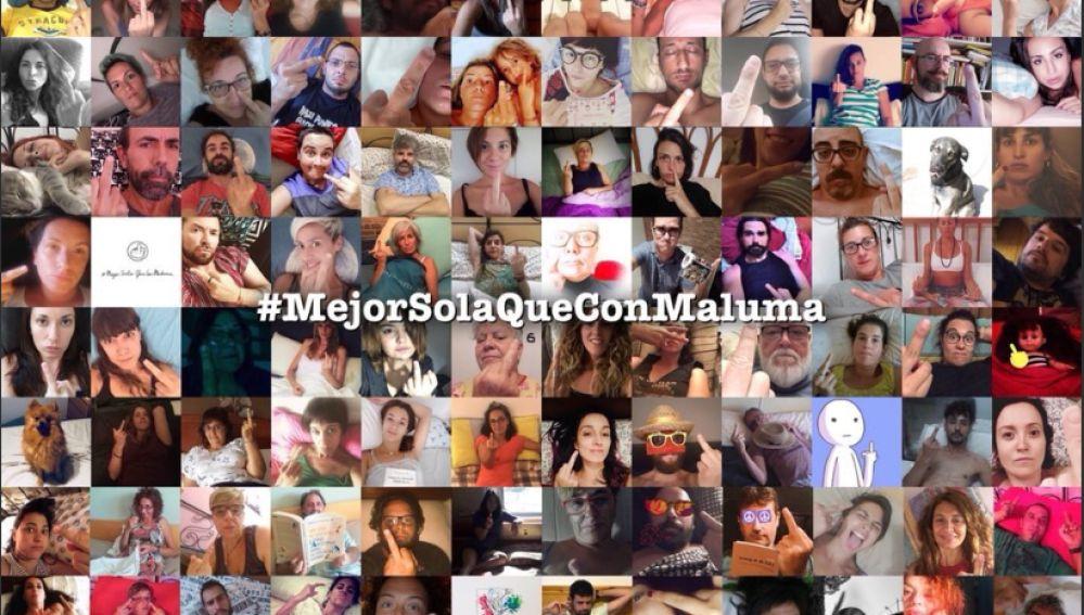 En la imagen las reacciones de los usuarios ante la publicación de Maluma