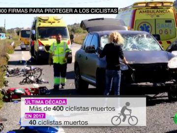 BORRADOR Más de 400 ciclistas muertos en la carretera en la última década