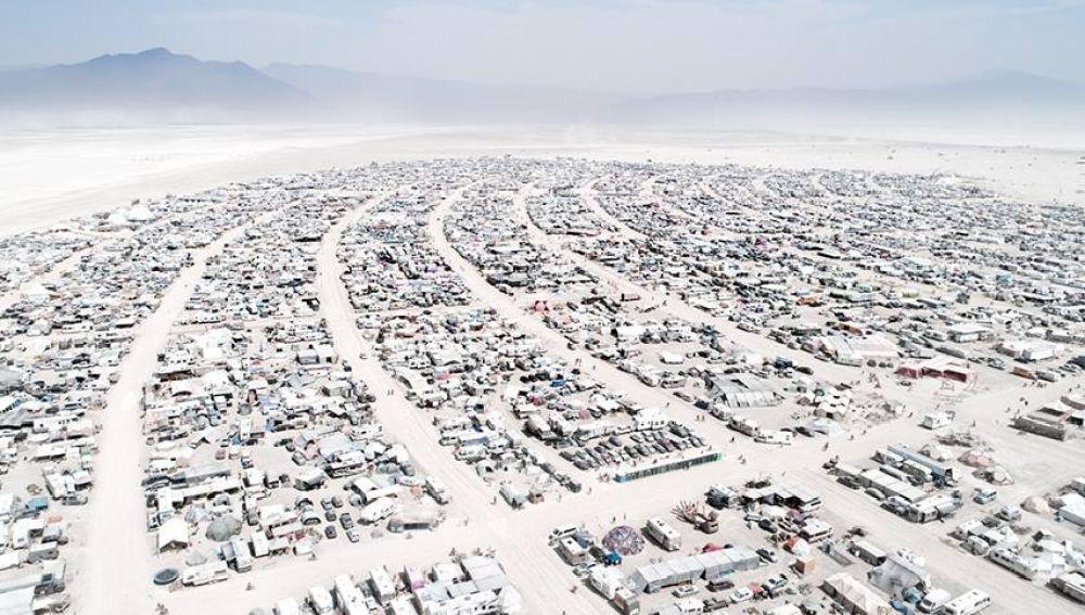 Ciudad 'Burning Man' en el desierto de Nevada, EEUU