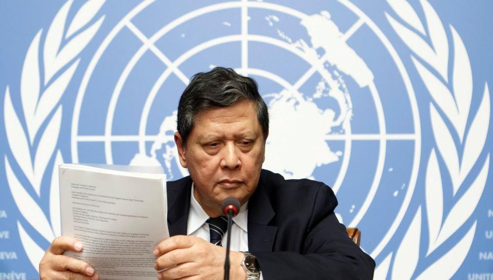El presidente de la Misión de Investigación de la ONU para Birmania, Marzuki Darusman