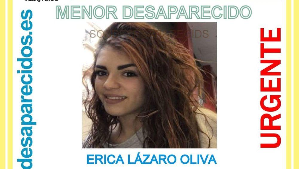 Erica Lázaro, la menor de 15 años desaparecida en Carabanchel