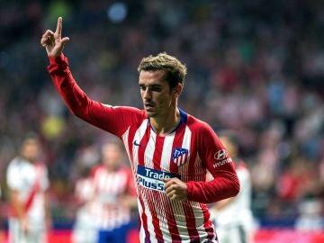 Griezmann celebrando un gol con el Atlético