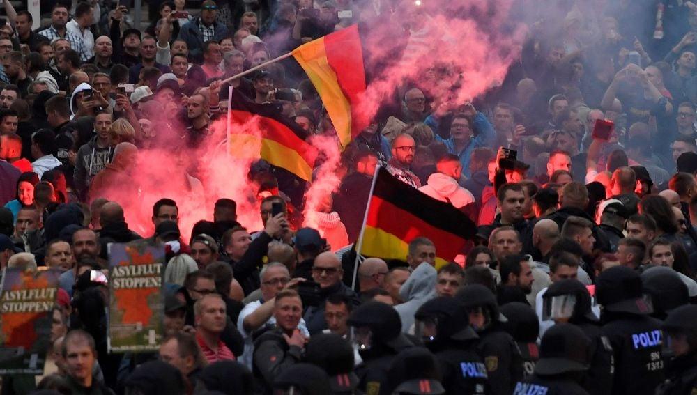 Manifestación de ultraderecha en Alemania