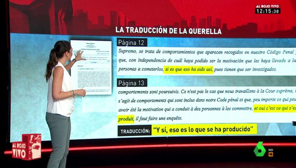 Analizamos la traducción falseada de las declaraciones de la querella contra el juez Llarena