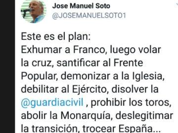 El polémico tuit de José Manuel Soto
