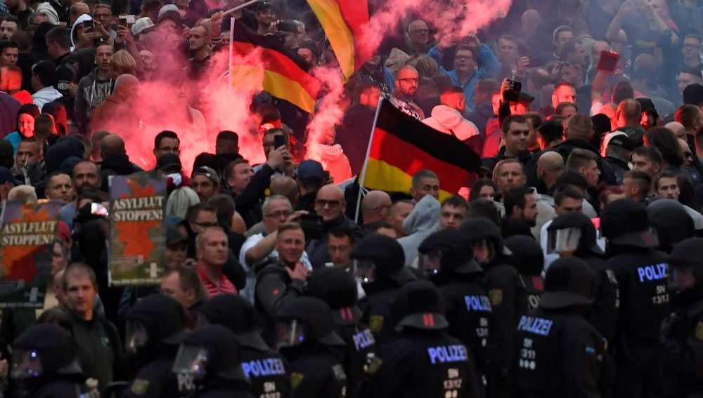 Manifestación neonazi en Chemnitz