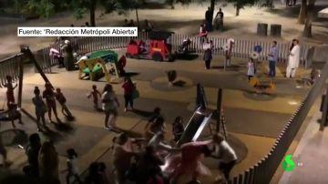 Brutal pelea en un parque infantil en Barcelona