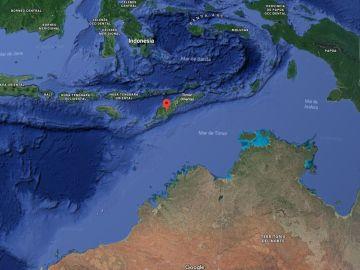 Zona donde ha tenido lugar el terremoto de 6,2 grados