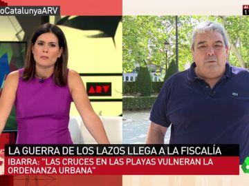 """Esteban Ibarra, crítico con la actuación de los Moss ante la retirada de lazos amarillos: """"Estas identificaciones están fuera de lugar y atacan los derechos fundamentales"""""""