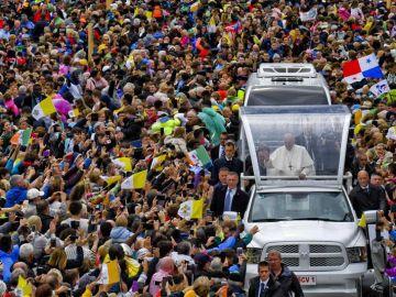 El papa Francisco durante su visita a Irlanda